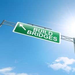 Building bridges.